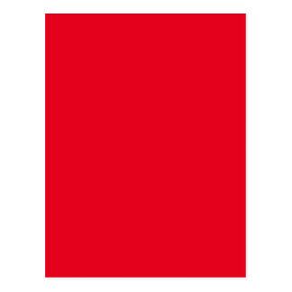 Carte Postale Couleur joyeux très rouge