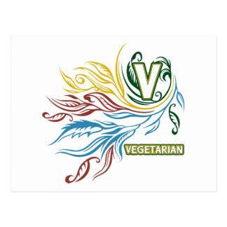 Carte Postale Couleurs végétariennes débordantes