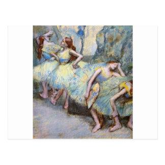 Carte Postale Coulisses de les de dans de danseuses d'Edgar