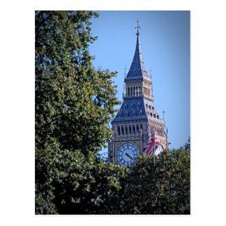 Carte Postale Coup d'oeil - Big Ben au-dessus des arbres