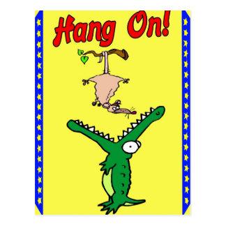 Carte Postale Coup sur l'alligator et l'opossum