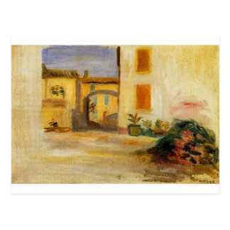 Carte Postale Cour de ferme par Pierre-Auguste Renoir