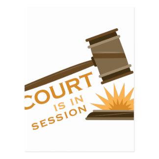 Carte Postale Cour en session