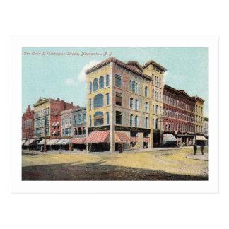 Carte Postale Cour et Washington Sts., Binghamton, cru de NY