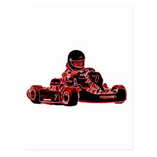 Carte Postale Coureur rouge
