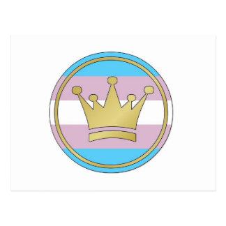 Carte Postale Couronne de fierté de transsexuel