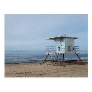 Carte Postale Courrier 13 de maître nageur de Huntington Beach