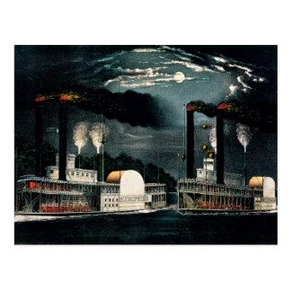 Carte Postale Course de minuit sur le Mississippi