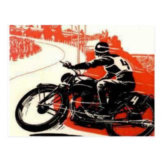 Carte Postale Course de moto