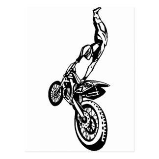 Carte Postale Course tous terrains de moto
