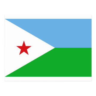 Carte Postale Coût bas ! Drapeau de Djibouti
