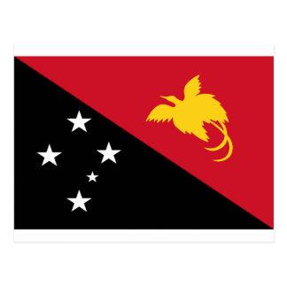 Carte Postale Coût bas ! Drapeau de la Papouasie-Nouvelle-Guinée