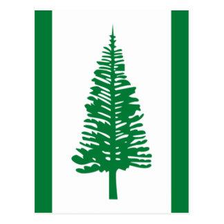 Carte Postale Coût bas ! Drapeau de l'Île Norfolk