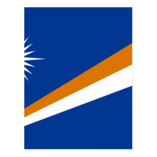 Carte Postale Coût bas ! Drapeau des Marshall Islands