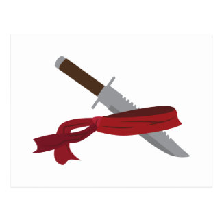 Carte Postale Couteau et Bandana