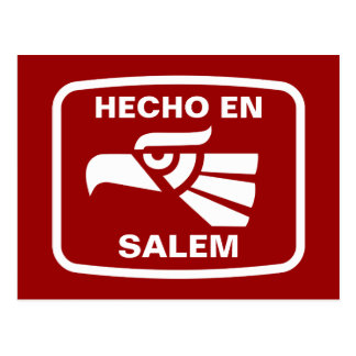 Carte Postale Coutume de personalizado d'en Salem de Hecho