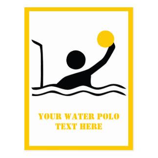 Carte Postale Coutume de silhouette de noir de joueur de polo