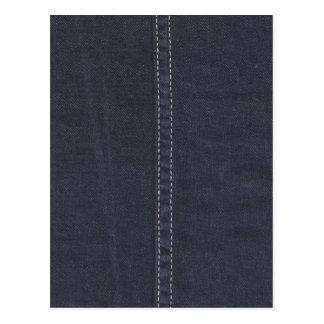 Carte Postale Couture foncée de denim