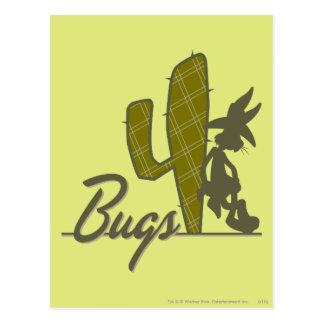 Carte Postale Cowboy de ™ de BUGS BUNNY se penchant sur le