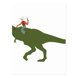 Carte Postale Cowboy de dinosaure