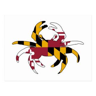 Carte Postale Crabe de drapeau du Maryland