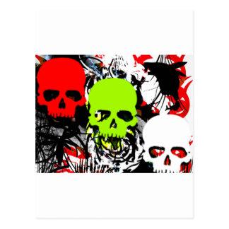 Carte Postale crâne 3