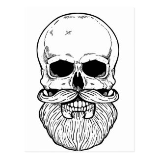 Carte Postale Crâne Barbu