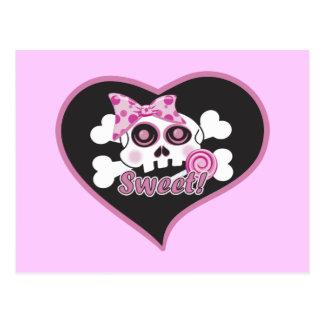 Carte Postale Crâne d'amoureux