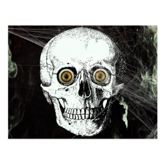 Carte Postale Crâne de pirate de Halloween
