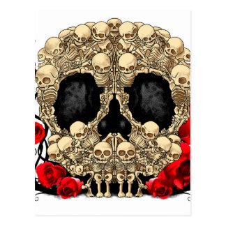 Carte Postale Crâne de sucre - conception de tatouage