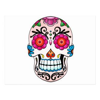 Carte Postale Crâne de sucre - jour des morts, tatouage, Mexique