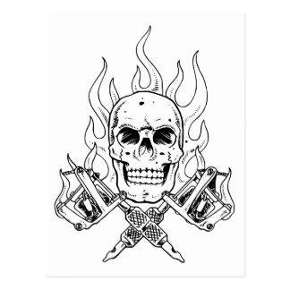 Carte Postale Crâne de tatouage