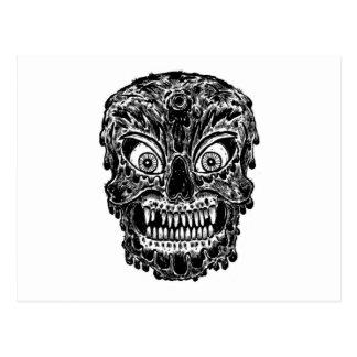 Carte Postale crâne de zombi