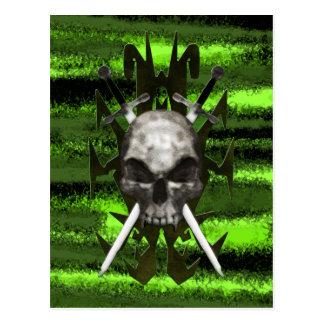 Carte Postale Crâne et épées de conception de Trible