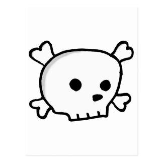 Carte Postale Crâne petit de pirate