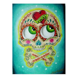 Carte Postale Crâne tatoué