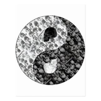Carte Postale Crâne Yin Yang