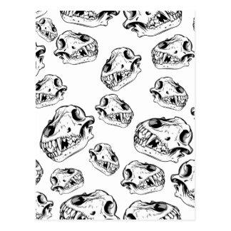 Carte Postale Crânes de loup