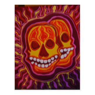 Carte Postale Crânes superbes de Halloween