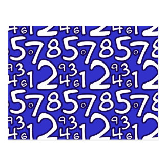 Carte Postale Crazy Numbers - Blue