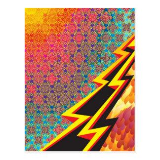 """Carte Postale Création colorée """"éclair Gordon """" de motif"""