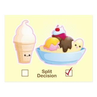 Carte Postale Crème glacée de décision partagée
