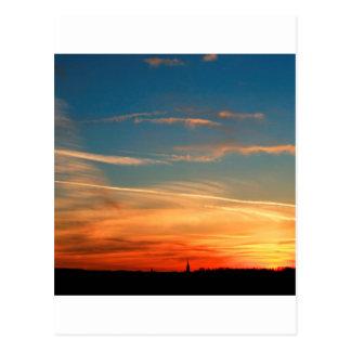 Carte Postale Crépuscule de nature chaud et froid
