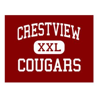Carte Postale Crestview - pumas - milieu - Huntington Indiana
