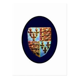 Carte Postale Crête BG bleue d'église de l'Angleterre Cantorbéry