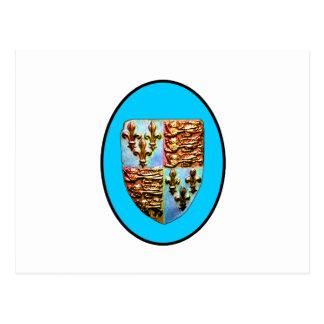 Carte Postale Crête BG cyan d'église de l'Angleterre Cantorbéry