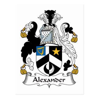 Carte Postale Crête de famille d'Alexandre