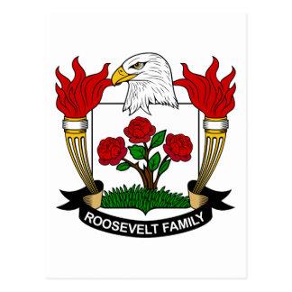 Carte Postale Crête de famille de Roosevelt