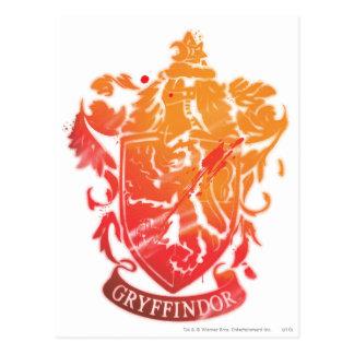 Carte Postale Crête de Gryffindor - éclaboussée