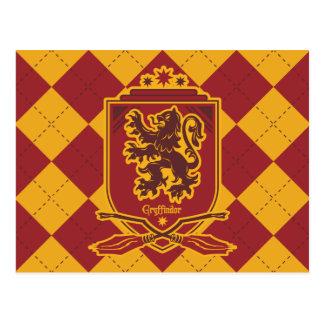 Carte Postale Crête de Harry Potter   Gryffindor QUIDDITCH™